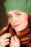 Redhead Autumn Beauty3 Stock Photos