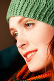 Redhead Autumn Beauty6 Stock Photography