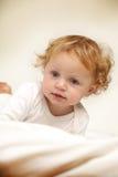 Redhead baby girl Royalty Free Stock Photo
