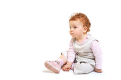 Redhead baby sitting Royalty Free Stock Photography