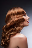 Redhead beautiful woman Royalty Free Stock Photography