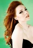 Redhead beauty stock photo