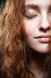 Redhead beauty portrait Stock Image