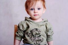 Redhead Boy. Redhead Infant boy in Casual Clothing Stock Photos