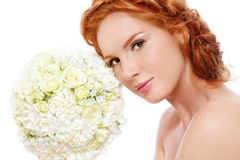 Redhead bride Stock Photo