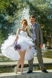 Redhead  bride and groom Royalty Free Stock Photo