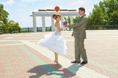 Redhead  bride and groom Stock Photography