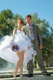 Redhead  bride and groom Royalty Free Stock Photography