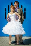 Redhead  bride and groom Stock Photos