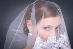 Redhead bride portrait in studio Stock Photography