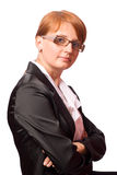 Redhead business woman Stock Photography