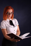 Redhead businesswoman Royalty Free Stock Images