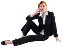 Redhead businesswoman on the phone Stock Images