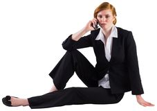 Redhead businesswoman on the phone Royalty Free Stock Photo