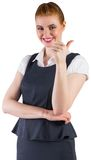 Redhead businesswoman showing thumbs up Stock Photo