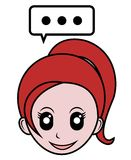 Redhead cartoon Stock Images