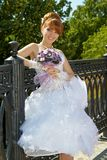 Redhead charming Bride Stock Images