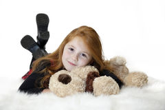 Redhead child relaxing Stock Photo