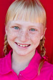 Redhead con las trenzas Fotos de archivo
