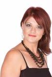 Redhead con sonrisa tímida Imagenes de archivo