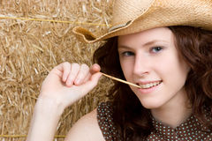 Redhead Country Girl Stock Images