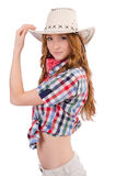 Redhead cowgirl Royalty Free Stock Photo