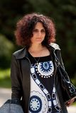 Redhead with curls outdoor Stock Photos