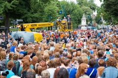 Redhead day Breda. BREDA, NETHERLANDS – SEPTEMBER 1 : Crowd of people with red hair during Redhead Day Breda, the Netherlands.. Thousands of redheads came to Stock Images