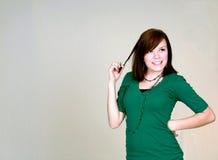 Redhead de Flirty Fotografía de archivo libre de regalías