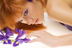 Redhead de la belleza Foto de archivo libre de regalías