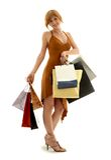 Redhead de las compras Fotos de archivo libres de regalías