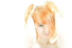 redhead di Ciao-tasto Fotografie Stock