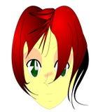 Redhead do Anime Foto de Stock Royalty Free