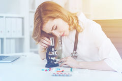 Redhead doctor working Stock Photos