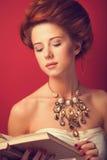 Redhead edwardian women Royalty Free Stock Photos