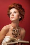 Redhead edwardian women Royalty Free Stock Images