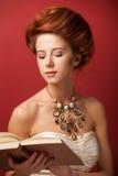 Redhead edwardian women Stock Photo