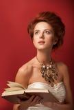 Redhead edwardian women Stock Image