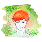 Redhead elf Stock Photography