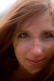 Redhead-Gesicht lizenzfreie stockbilder