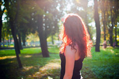 Redhead girl Royalty Free Stock Photography