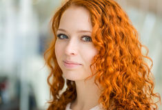 Redhead girl. Royalty Free Stock Photography