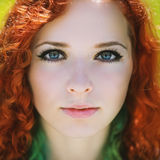 Redhead girl. Stock Photography