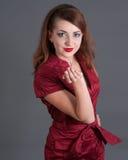 Redhead Girl Blowing A Kiss Royalty Free Stock Photos