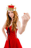 Redhead girl with crown Royalty Free Stock Photos