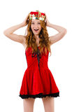 Redhead girl with crown Stock Photography
