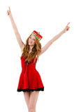 Redhead girl with crown Royalty Free Stock Image