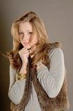 Redhead girl posing in studio Stock Photos