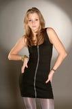 Redhead girl posing in studio Royalty Free Stock Photos