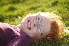 Redhead with glasses Stock Photos